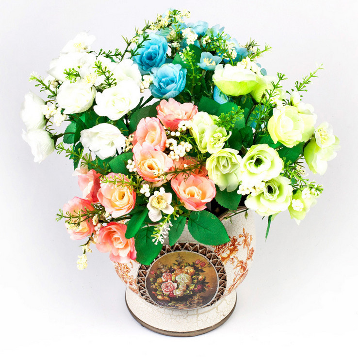 Buy new 10pcs artificial flowers for New flower decoration