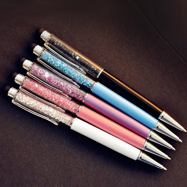 2 pcs/Lot Cute Crystal pen Diamond ballpoint pens Stationery touch stylus 1 - Rainbow & Gifts Shop store