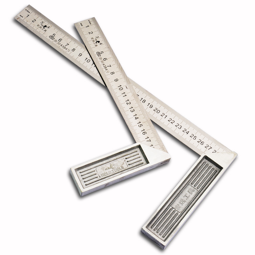 HOLD tool L-type stainless steel ruler Square aluminum seat rectangular device woodworking tool woodworking Square 90 feet(China (Mainland))