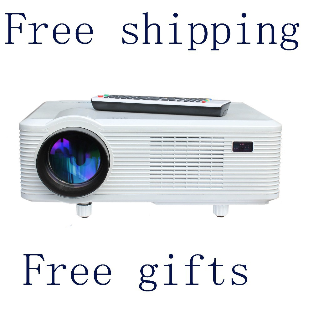 free shipping + free gifts ! hd 1080p projector with 720p resolution with TFTLCD panel + LED technology for home office business<br><br>Aliexpress