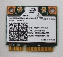 New  Intel Dual Band Wireless-AC 7260 7260HMW 802.11ac MINI PCI-E Card 2.4G/5G Dual Band 2×2 WiFi + Bluetooth 4.0