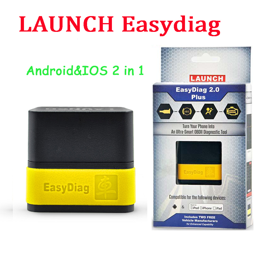 2016 Launch X431 EasyDiag Plus 2.0 OBDII Code Reader for Android ios 2 in 1 with two Free car Software launch easydiag(China (Mainland))