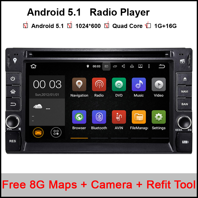 2 Din Android 5.11 Car DVD GPS Universale Stereo Radio Player 6.2 inch Quad core 1.6G Touch double 2din With DAB+3G WIFI(China (Mainland))