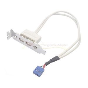 CY Low Profile USB 2.0 Female Back panel to Motherboard 9pin cable with PCI bracket(China (Mainland))