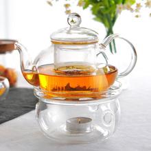 Flowers and teapot glass cup kung fu tea black tea glass tea set 1pcs teapot 1pcs