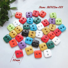 Buy Mini buttons 144pcs 10mm 16L mixed color small square resin buttons scrapbooking craft sewing decorative accessories ) for $3.51 in AliExpress store