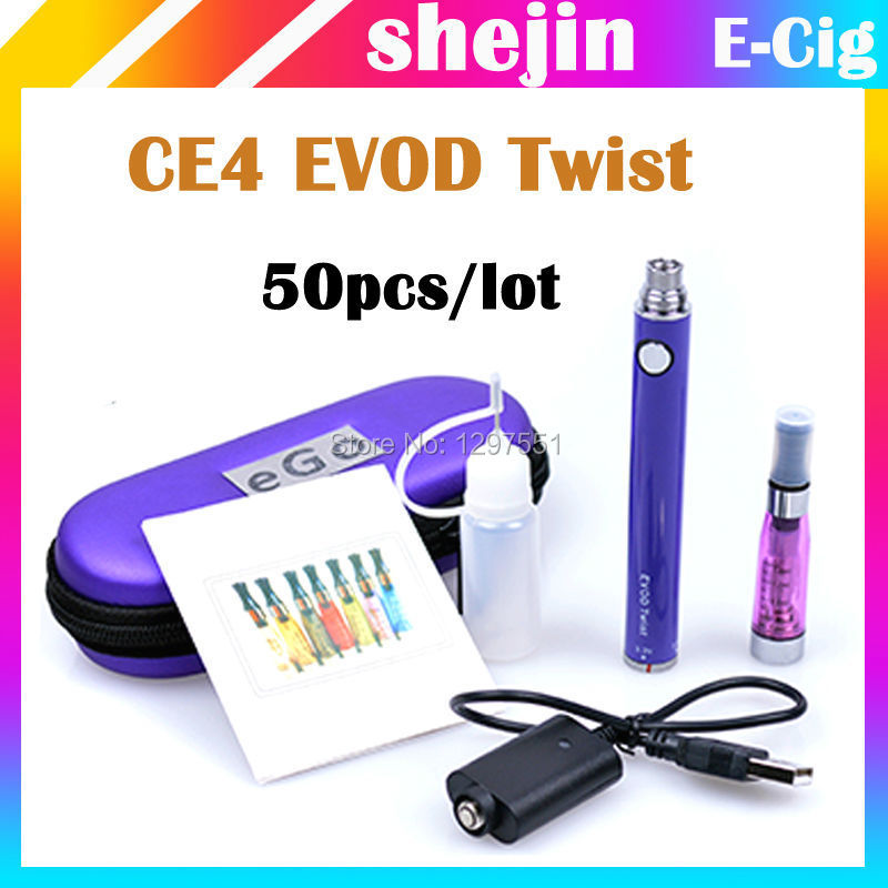 50pcs/lot e kit ce4 evod evod cigarro eletronico ce4 evod ce4 EVOD twist