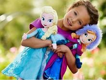 Fiebre boneca muñecas princesa Anna y Elsa muñecas para las niñas juguetes para niños embroma el regalo felpa olaf sven Elsa Anna(China (Mainland))