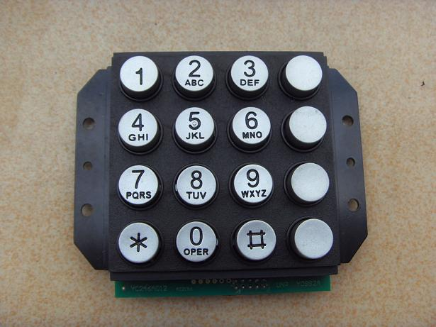 Payphone 16 button keypad dial buttons zinc alloy metal locks keyboard access keys(China (Mainland))