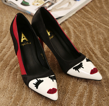 New 2015 Women's High Heels Shoes Woman Pigalle Fashion Women Pumps Red/ Pink Stilettos Wedding Shoes Plus Size