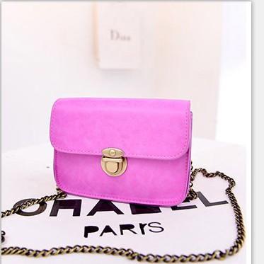 New retro mini packet chain shoulder bag fashion handbag Messenger bag lady fruit color(China (Mainland))