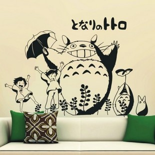 66*93cm Totoro cartoon wall stickers home decoration child real wallpaper - BG Vip store