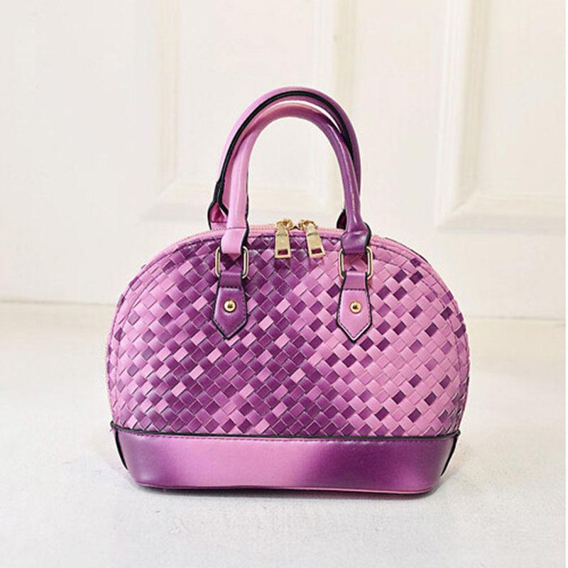 Women Fashion Knitting Gradient Color Shell Handbag Grace Elegant Luxury Messenger Bag Bolsas De Marcas Famosas Feminina xa1003D(China (Mainland))