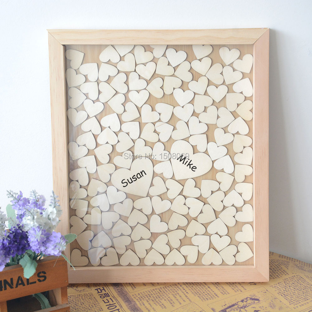 Letters Drop Box Heart Wood Guest Book | WedDirect - Discount ...