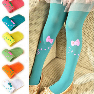 24pcs kawaii Japanese harajuku hello kitty tights Velvet Panty hose Harajuku tights for girls Free Shipping(China (Mainland))