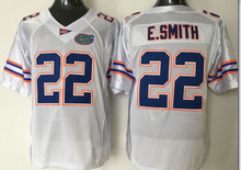 Florida Gators 22 Emmitt Smith White/Blue College Football Jersey Size:48-56(China (Mainland))