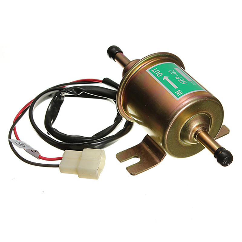 12V 8mm Pipes Car Boat Diessel / Petrol HEP-02A Set Metal Electric Fuel Pump Free Shipping(China (Mainland))