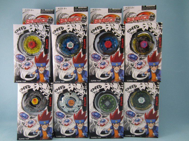Free shipping 18pcs/lot 9 model mix bey blade ,spin top ,(China (Mainland))