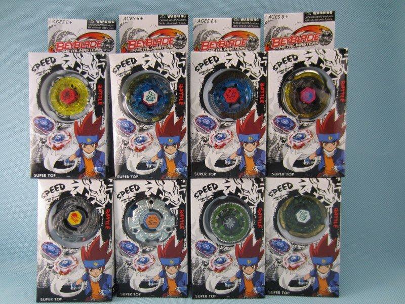 Free shipping 18pcs/lot 9 model mix bey blade ,spin top ,(China (Mainland))