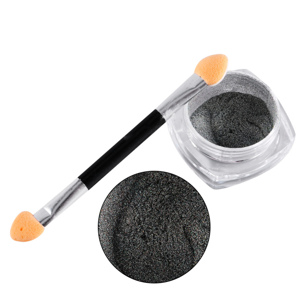 1g/Box Hot Selling Holographic Nail Art Pigments Laser Glitter Powder Chrome Decoration With Brush(China (Mainland))