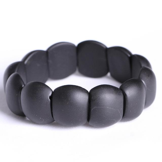 100% настоящий черный Bianshi нефрит браслет пользы для здоровья Banichi натуральный ...
