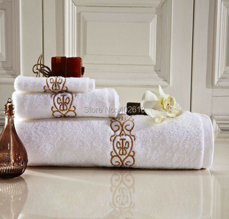 3pcs lot bath towel set design towel 100 cotton size 30x30 40x80 70x140cm bathroom