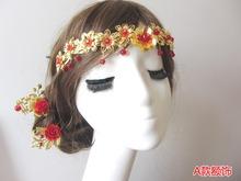 4 Designs Bride Forehead Accessory Hair Piece Handmade Hair Jewelry Hanfu Xiuhefu