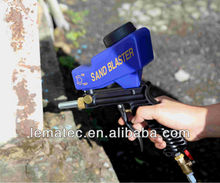 LEMATEC Gravity Feed Sandblasting gun Air Sandblast sand spray gun for rust remove Sandblaster air tools(Taiwan)
