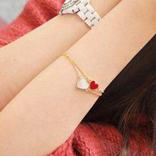 Heart Bracelet-Korean Fashion Street Shooting Vintage Peach Heart Love Clover Bangle Bracelet Jewelry(China (Mainland))