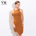 YuooMuoo 2016 Fashion Women Summer Dress Casual Asymmetrical Short Dress European Brand Design Slit Dress Solid