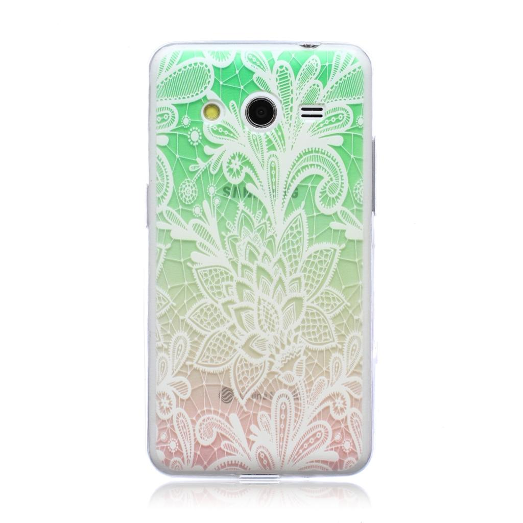 For Samsung Galaxy Core 2 G355H Ultra Thin Case Fashion Embossed Painting Patterned Slim Soft Silicone