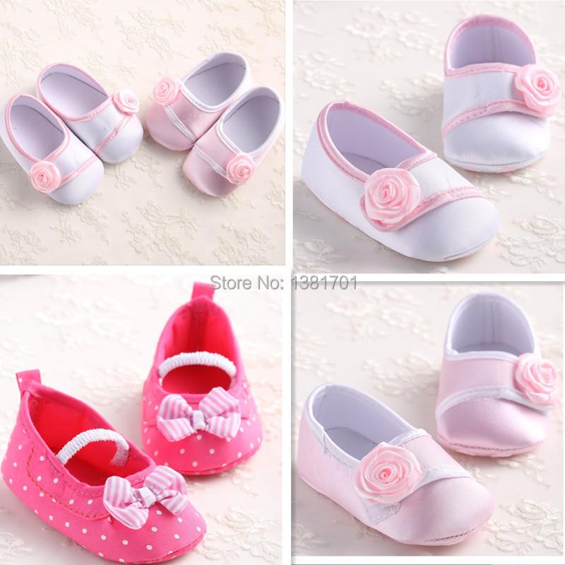 New flower casual girls Baby Shoes Crib Infant Slip on 12