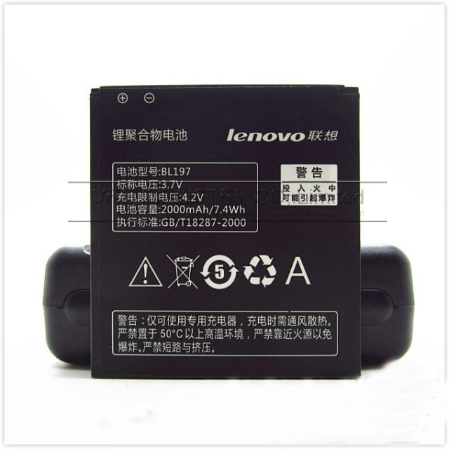 2000mAh BL197 cell mobile phone bateria For Lenovo A820 S750 A820 S720 a800 battery free singapore sipping with retail package(China (Mainland))