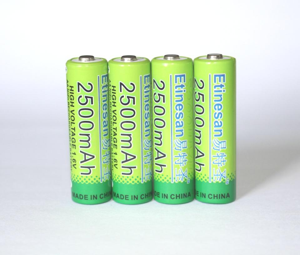 4 pcs nizn 1 6v 2500mah aa rechargeable battery 4 ports nizn nimh aa aaa battery charger. Black Bedroom Furniture Sets. Home Design Ideas
