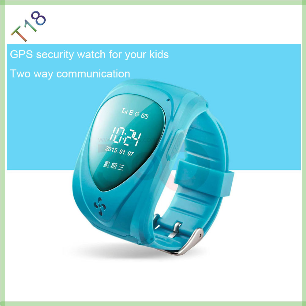 free shipping children kids GPS GSM GPRS tracking device watch double locate remote monitor SOS function(China (Mainland))