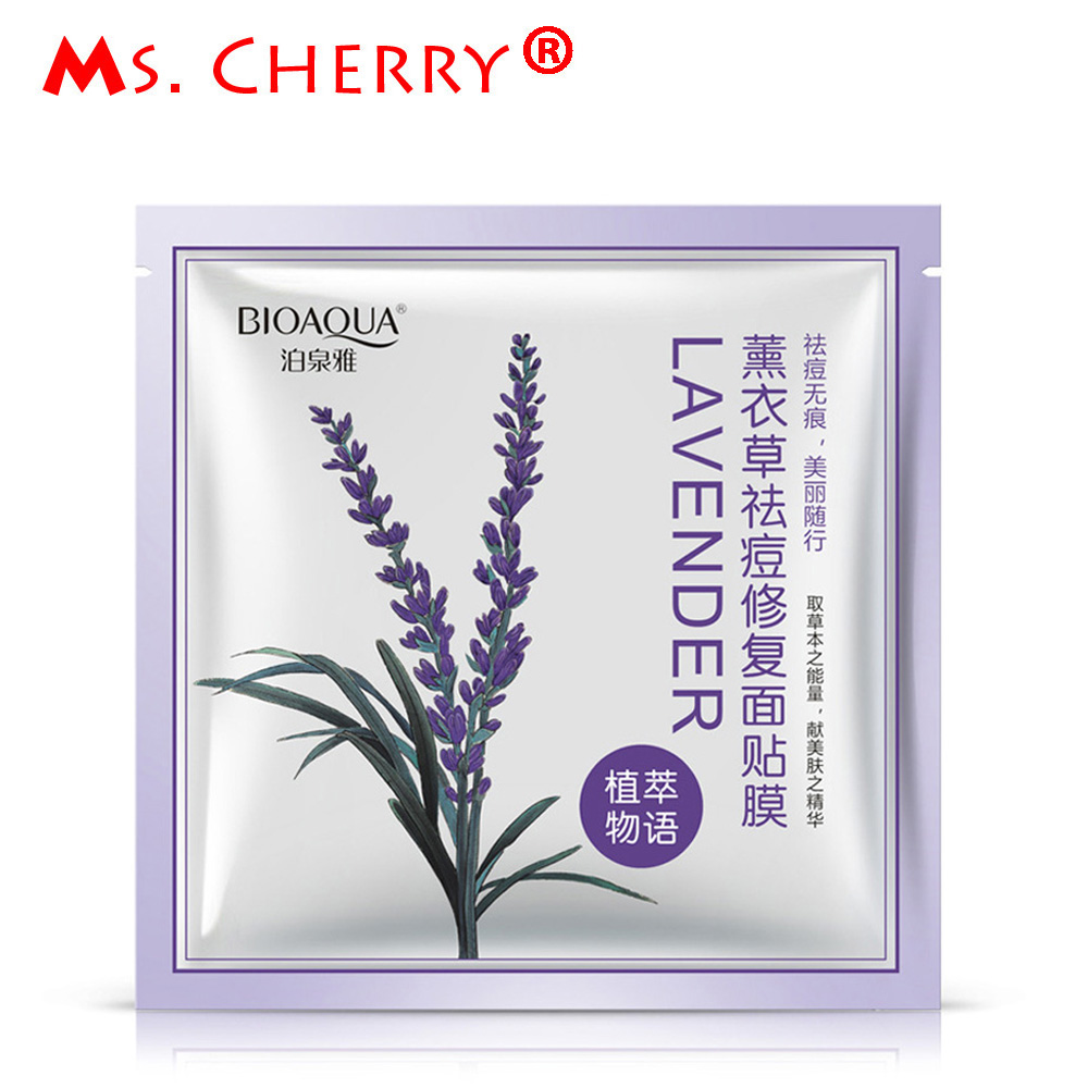Lavender Acne Treatment Face Mask Hydrating Moisturizing Fare Repair Skin Care Facial Mask Treatment Mask Products masque PF168(China (Mainland))
