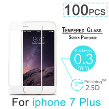 100pcs/lot Full Cover Explosion Proof Premium Tempered Glass Screen Protector For iPhone 7 4.7″ 7 Plus 5.5″ Case Screen Guard