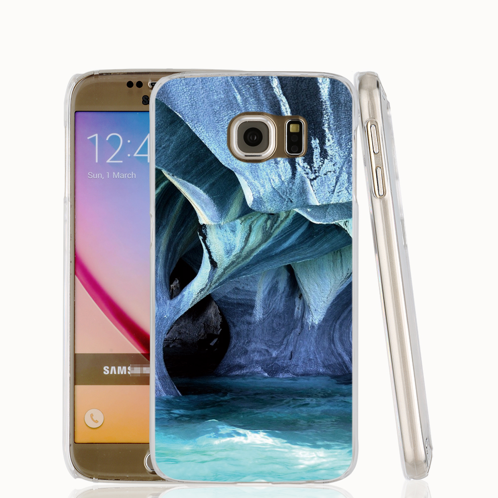 21502 abstract blue cave Chile Marble Patagonia Turquoise cell phone case cover for Samsung Galaxy S7 edge PLUS S6 S5 S4 S3 MINI(China (Mainland))