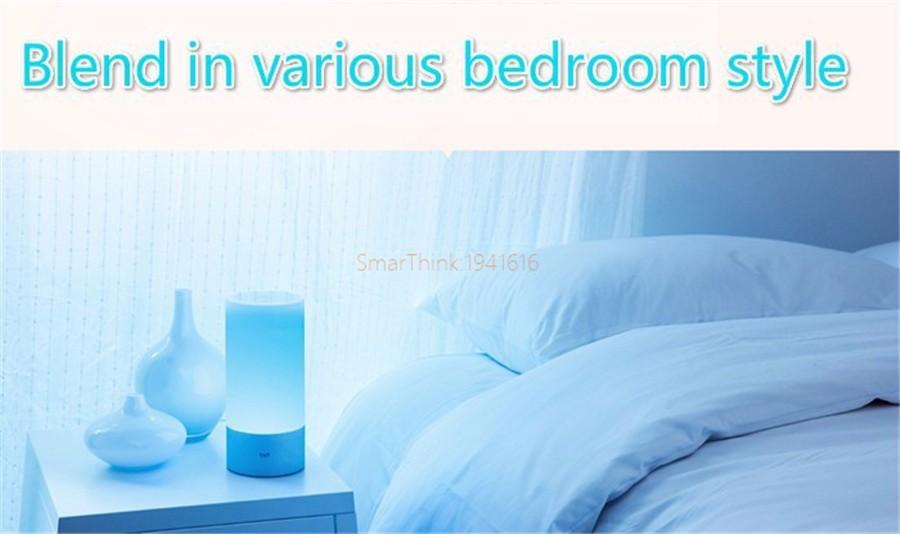 Original Smart Xiaomi Yeelight Bedside Lamp Bluetooth LED Light Touchlight RGBW Touch Control for BT Smart Phone App Control