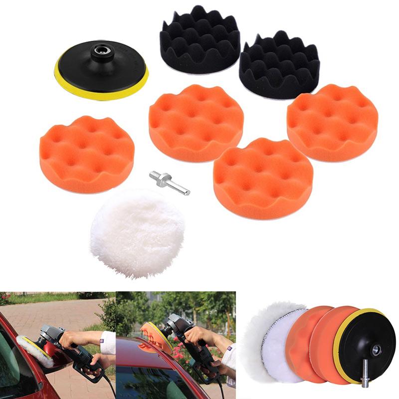9pcs/ Set M10 Drill Adapter Thread Pad Polishing Sponge Pad Waxing Kit For Car Auto Polisher DXY88(China (Mainland))