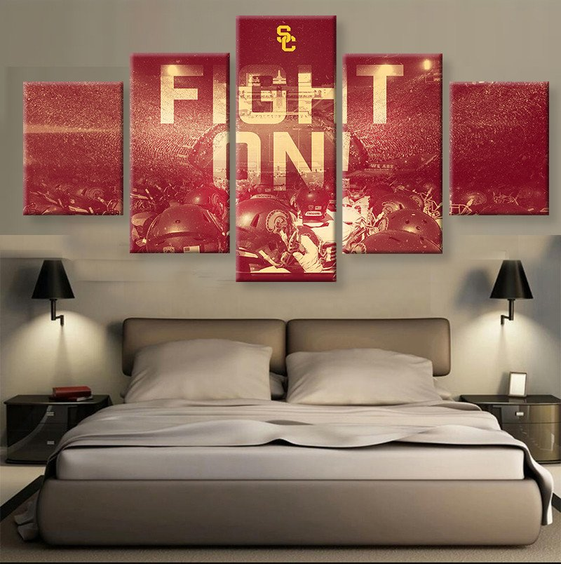 HD print 5 pcs Canvas art USC Football Sport painting on canvas modern home decor Wall Art painting Picture /PT0709(China (Mainland))