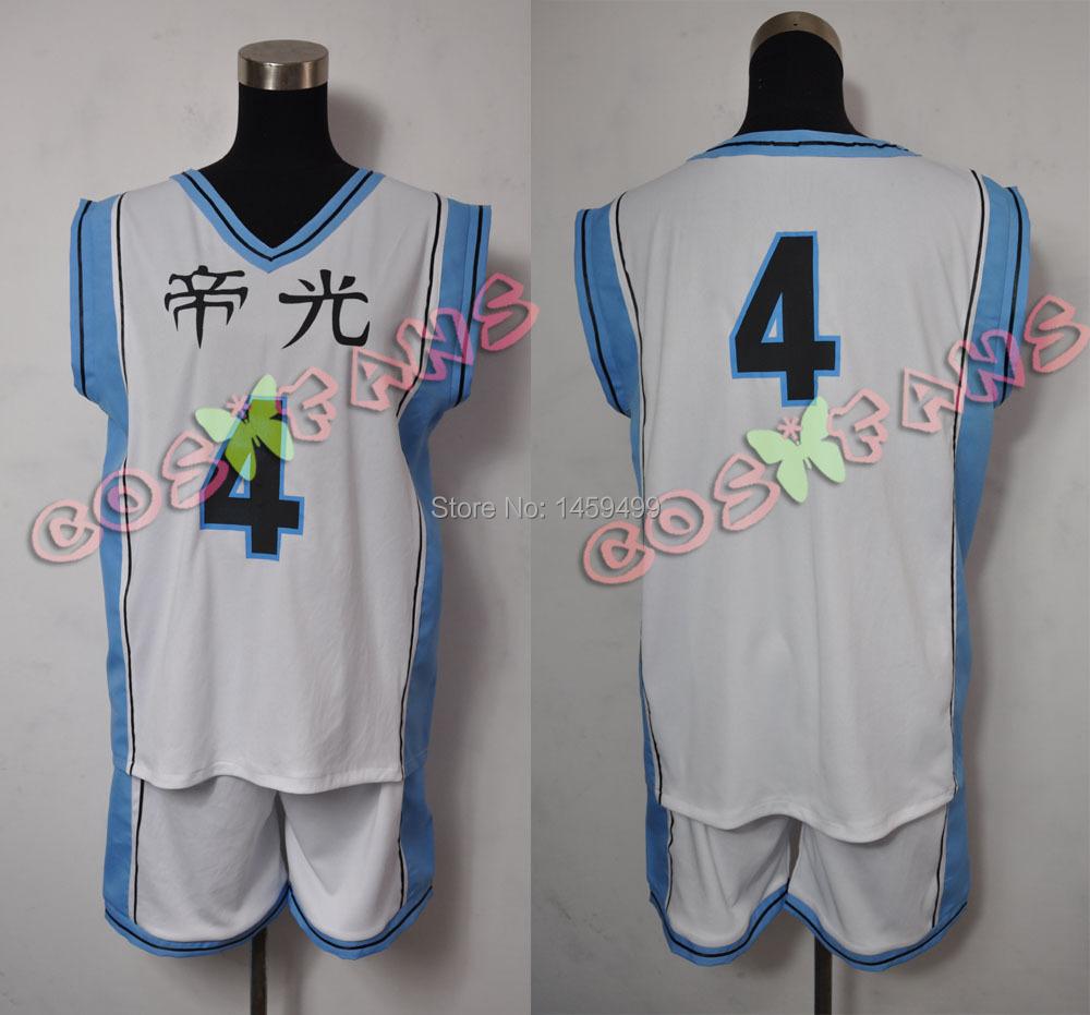 cos738 Kuroko's Basketball Emperor light middle school Basketball New Costume Cosplay(China (Mainland))