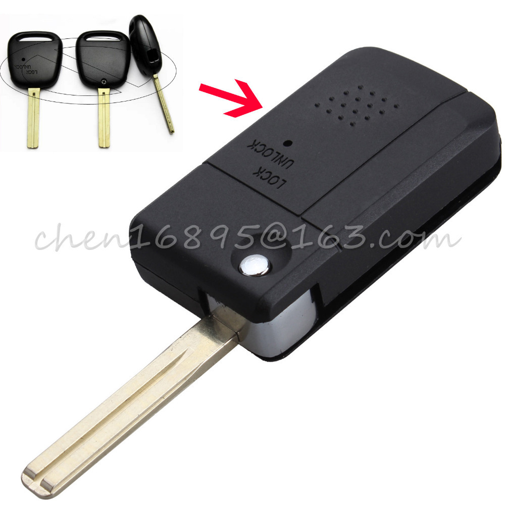 Flip Key Shell fit for Refit TOYOTA 1 Side Button Remote Key Len 39mm TOY48(China (Mainland))