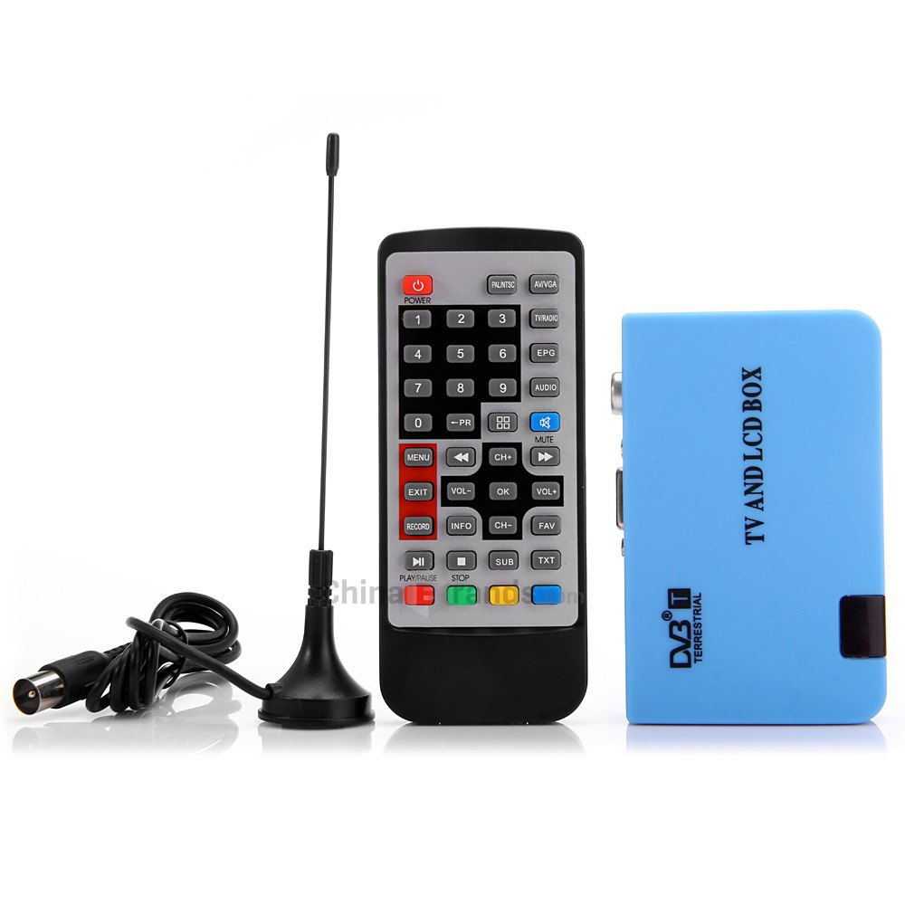 2015 New Stand-alone VGA/AV Tuner DVB-T LCD TV Receiver Recorder with Remote Controller Digital TV Box DVB-T FreeView Receiver(China (Mainland))