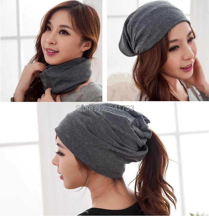 spring & autumn gorros womens beanie hat for women 3 way to wear bonnet,High Cost performance!!Woman multifunctional beanies,AfW(China (Mainland))