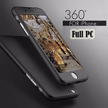 Buy 360 Degree Full Cover Case iPhone6 Case 6s 7 Plus 5S 5 Tempered Glass iPhone 7 Case6 Plus Phone Case Capa Coque for $2.99 in AliExpress store