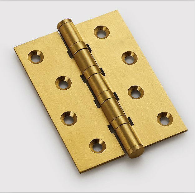 Free Shipping, brass Hinges for timber door / Metal Door, 3mm thickness, Low Noise, 4inch * 3inch* 2.5mm(China (Mainland))