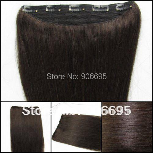 Darkest Brown Clip In Hair Extensions 69
