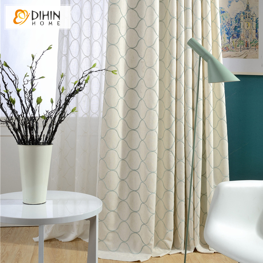 DIHIN 1 PC Window curtain european style semi-blackout curtains for living room modern curtain kitchen(China (Mainland))