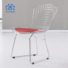 Simple wire chairs without armrests Bertoia Wire Chair metal chair Iron chairs(China (Mainland))